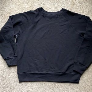 🌟reformation black cropped sweatshirt small
